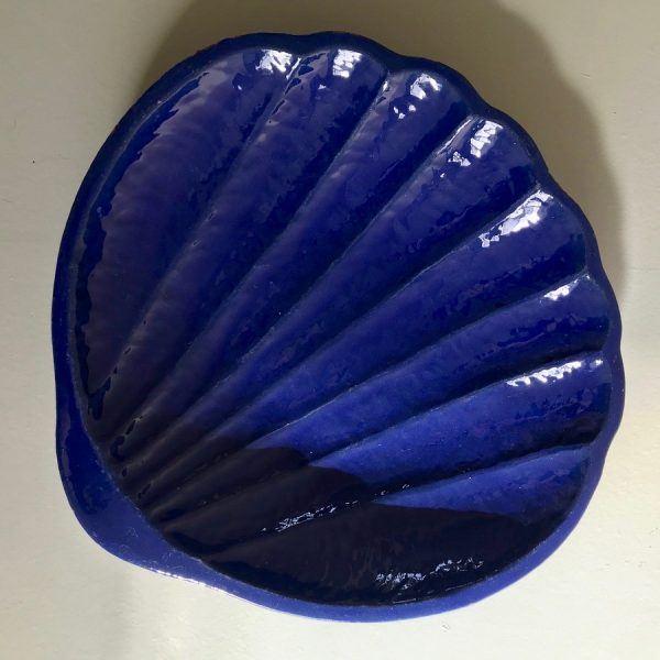 Vintage Clam Ceramic Plate